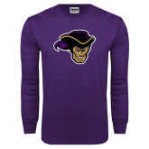 Purple Long Sleeve T Shirt-Poet Head