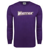 Purple Long Sleeve T Shirt-Whittier
