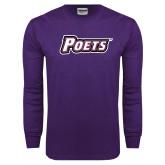 Purple Long Sleeve T Shirt-Poets