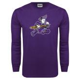 Purple Long Sleeve T Shirt-Retro Poet