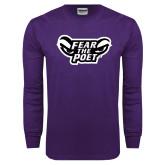 Purple Long Sleeve T Shirt-Fear the Poet