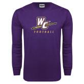 Purple Long Sleeve T Shirt-Football