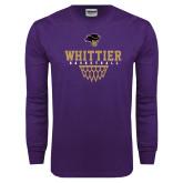 Purple Long Sleeve T Shirt-Basketball