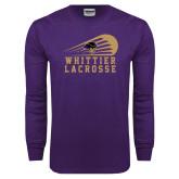 Purple Long Sleeve T Shirt-Lacrosse