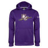 Under Armour Purple Performance Sweats Team Hoodie-WC with Pen