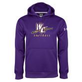 Under Armour Purple Performance Sweats Team Hoodie-Softball