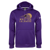 Under Armour Purple Performance Sweats Team Hoodie-Lacrosse