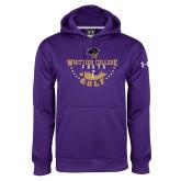 Under Armour Purple Performance Sweats Team Hoodie-Golf