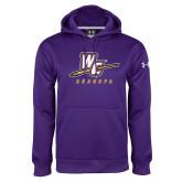 Under Armour Purple Performance Sweats Team Hoodie-Grandpa