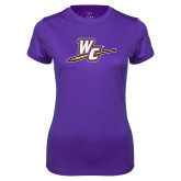 Ladies Syntrel Performance Purple Tee-WC with Pen