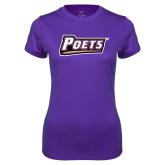 Ladies Syntrel Performance Purple Tee-Poets