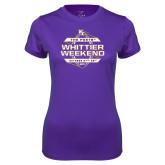 Ladies Syntrel Performance Purple Tee-Whittier Weekend
