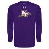 Under Armour Purple Long Sleeve Tech Tee-WC with Pen