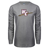 Grey Long Sleeve T Shirt-WC with Pen