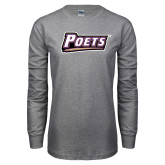 Grey Long Sleeve T Shirt-Poets