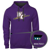 Contemporary Sofspun Purple Hoodie-WC with Pen