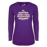 Ladies Syntrel Performance Purple Longsleeve Shirt-Whittier Weekend