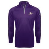 Under Armour Purple Tech 1/4 Zip Performance Shirt-WC with Pen