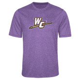 Performance Purple Heather Contender Tee-WC with Pen