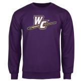 Purple Fleece Crew-WC with Pen