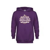Youth Purple Fleece Hoodie-Whittier Weekend