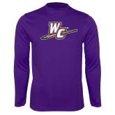 Performance Purple Longsleeve Shirt-WC with Pen