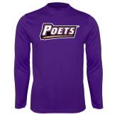 Performance Purple Longsleeve Shirt-Poets