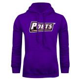 Purple Fleece Hoodie-Poets