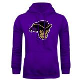 Purple Fleece Hoodie-Poet Head