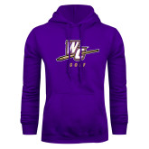 Purple Fleece Hoodie-Golf