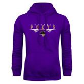 Purple Fleece Hoodie-Football