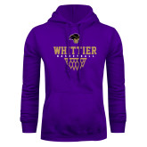 Purple Fleece Hoodie-Basketball