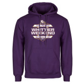 Purple Fleece Hoodie-Whittier Weekend