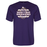 Performance Purple Tee-Whittier Weekend