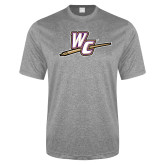 Performance Grey Heather Contender Tee-WC with Pen