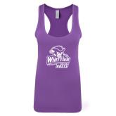 Next Level Ladies Purple Berry Jersey Racerback Tank-Primary Mark