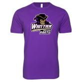 Next Level SoftStyle Purple T Shirt-Primary Mark