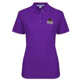 Ladies Easycare Purple Pique Polo-Primary Mark