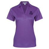 Ladies Purple Performance Fine Jacquard Polo-Primary Mark