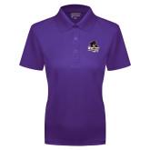 Ladies Purple Dry Mesh Polo-Primary Mark