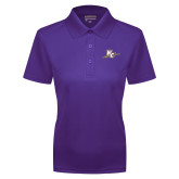 Ladies Purple Dry Mesh Polo-WC with Pen