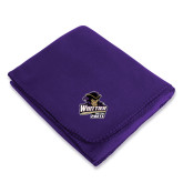 Purple Arctic Fleece Blanket-Primary Mark