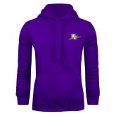 Purple Fleece Hoodie-WC with Pen