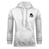 White Fleece Hoodie-Primary Mark