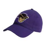 Purple Twill Unstructured Low Profile Hat-Poet Head