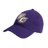 Purple Twill Unstructured Low Profile Hat-WC