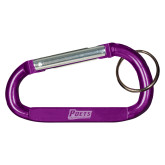 Purple Carabiner with Split Ring-Poets Engraved