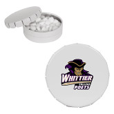 White Round Peppermint Clicker Tin-Primary Mark