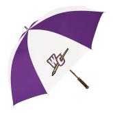 64 Inch Purple/White Umbrella-WC with Pen