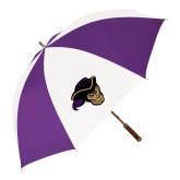 64 Inch Purple/White Umbrella-Poet Head
